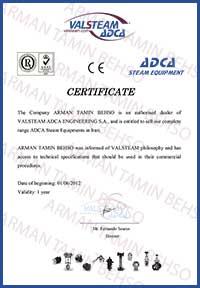 Valsteam Certificate
